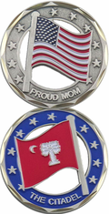 West Point Citadel Mom Flag Challenge Coin