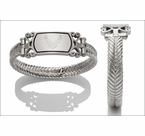 Women's Embossed Stainless Steel Bracelets