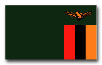 Zambia Flag Vinyl Transfer Decal