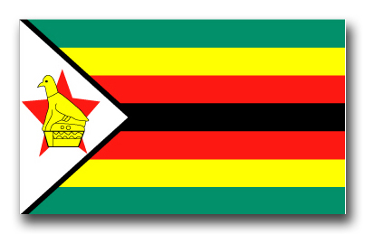 Zimbabwe Flag Vinyl Transfer Decal