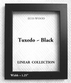 LINEAR Collection � Eco-Wood Picture Frames  � Standard & Non-Standard Picture Frame Sizes TUXEDO BLACK