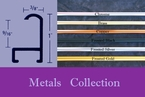 METALS Collection � Aluminum Picture Frames  � Standard & Non-Standard Picture Frame Sizes