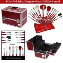 Holiday Combo Makeup Case & Makeup Brushes