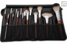 Italian Badger  Makeup Brushes w Tool Belt