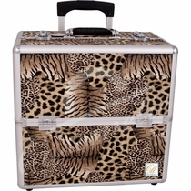 Leopard Travel Rolling Makeup Case