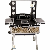 New Leopard Lighted Pro Makeup Case