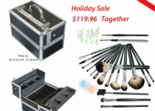 New Holiday Spiecial Makeup Case & Make Up Brushes