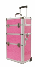 Pink Alligator Pro Train Makeup Case