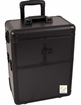 Pro Black Trolley Train Makeup Case