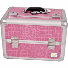 Holiday Pro Pink Alligator Makeup Case