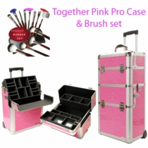 Pro Rolling Pink Alligator Makeup Case