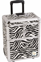 Pro Rolling Zebra Trolley Train Makeup Case