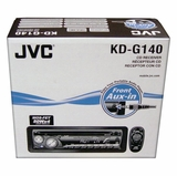 cd indash <br> car stereos jvc kd g140 cd player indash car stereo w front aux input