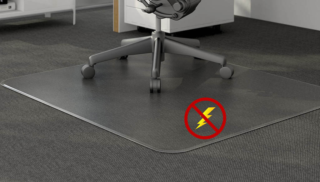 Anti Static Low Pile Carpet 125 Quot Thick Chair Mats 36