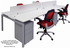 4-Person Benching Workstation w/ 48