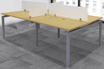 """4-Person Benching Workstation w/ 48"""" x 28"""" Worksurfaces"""