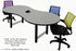 6' Custom Break-Out Conference Table w/Power Mod. -Other Sizes Avail.