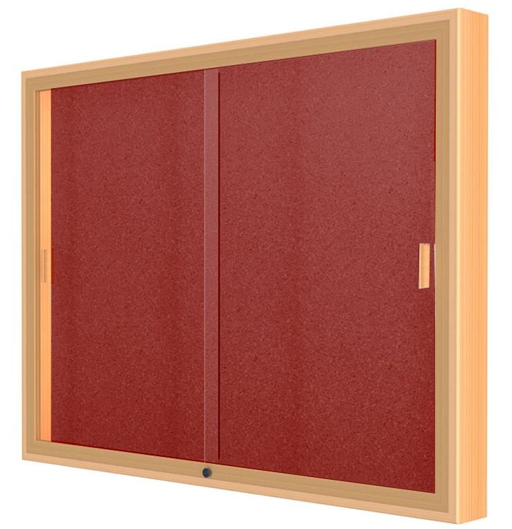 48 W X 48 H Sliding Door Wall Display