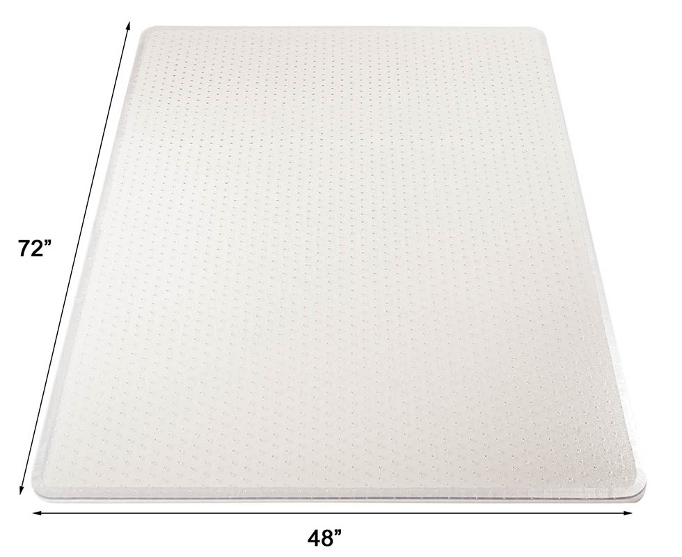 high pile carpet 25 thick chair mats w beveled edges 36 x 48