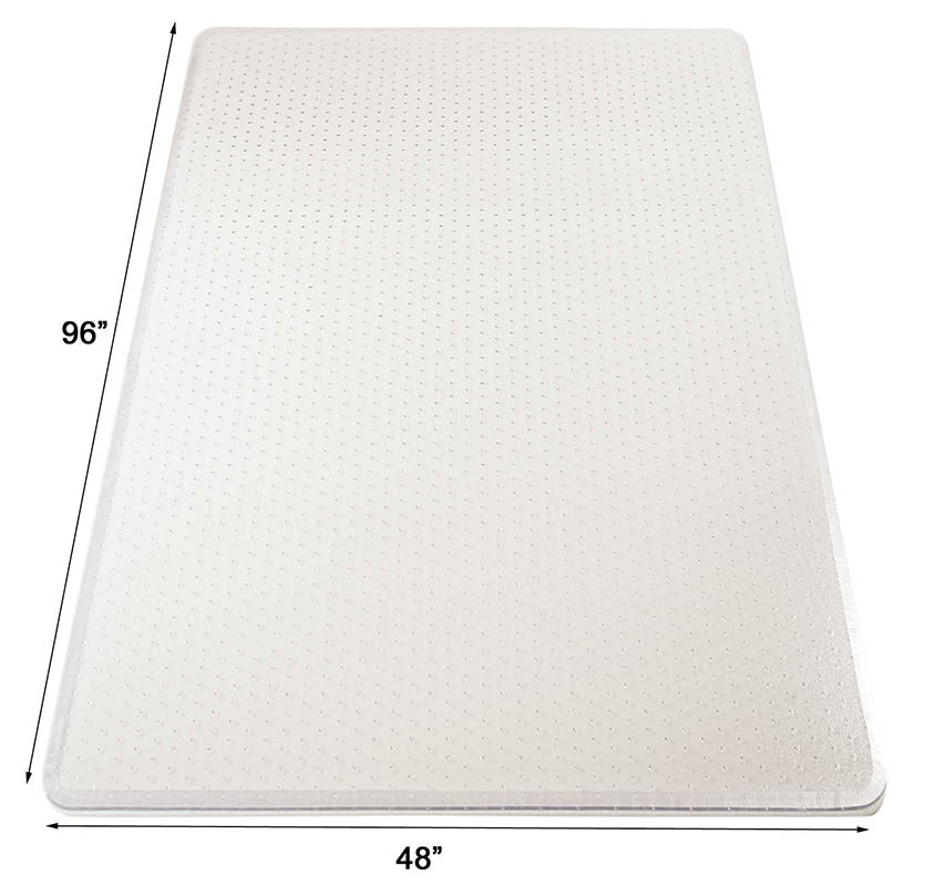 48 x 96 high pile carpet rectangular chair mat w beveled edges