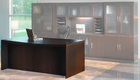 "Aberdeen Series - 66"" Bow Front Desk Shell"