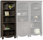 Antiqued Black Bookcase