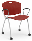Anytime Stackable Arm Chair with Casters