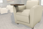 Aspire Leather Lounge Chair Series � Mobile Lounge Chair with Tablet Arm
