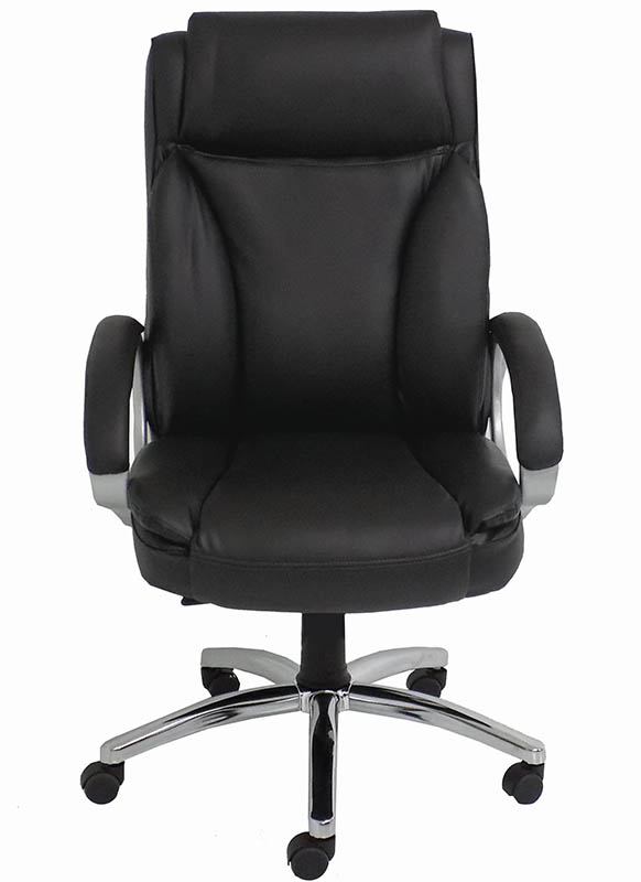 chairs black leather big tall office chair w 350 lb capacity
