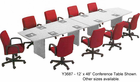 Custom Boat-Shaped Conference Tables from 6'-18' in 21 Colors!