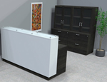 Contrasts Custom Reception Desks w/Glass Counter - 5'W Desk