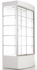"73""H Curved Base Display Cabinet w/Casters"