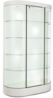 "74-1/2""H Curved Wall Display Case w/Casters"