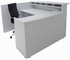 Custom Multi-Level L-Reception Desk w/Right Side Low Counter