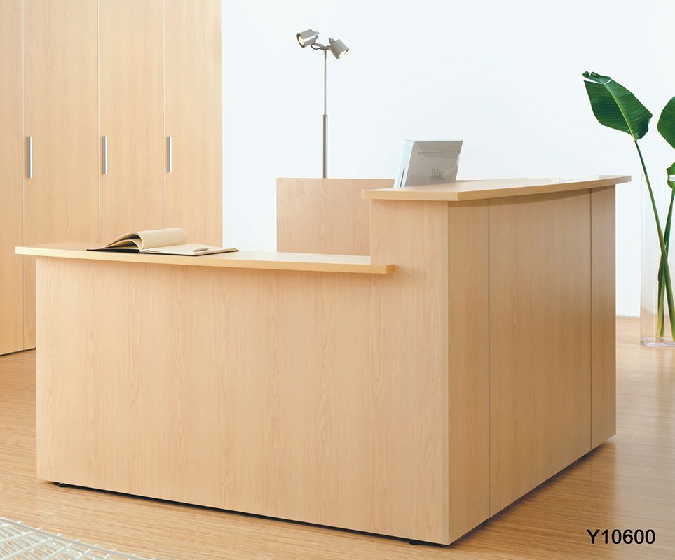 Custom Multi Level L Reception Desk WRight Side Low Counter
