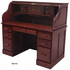 Deluxe Solid Oak Roll Top Desk