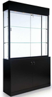 Salon Product Display Case with Locking Storage Base
