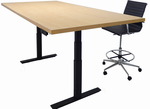 Adjustable Electric Lift Conference Table - Rectangular