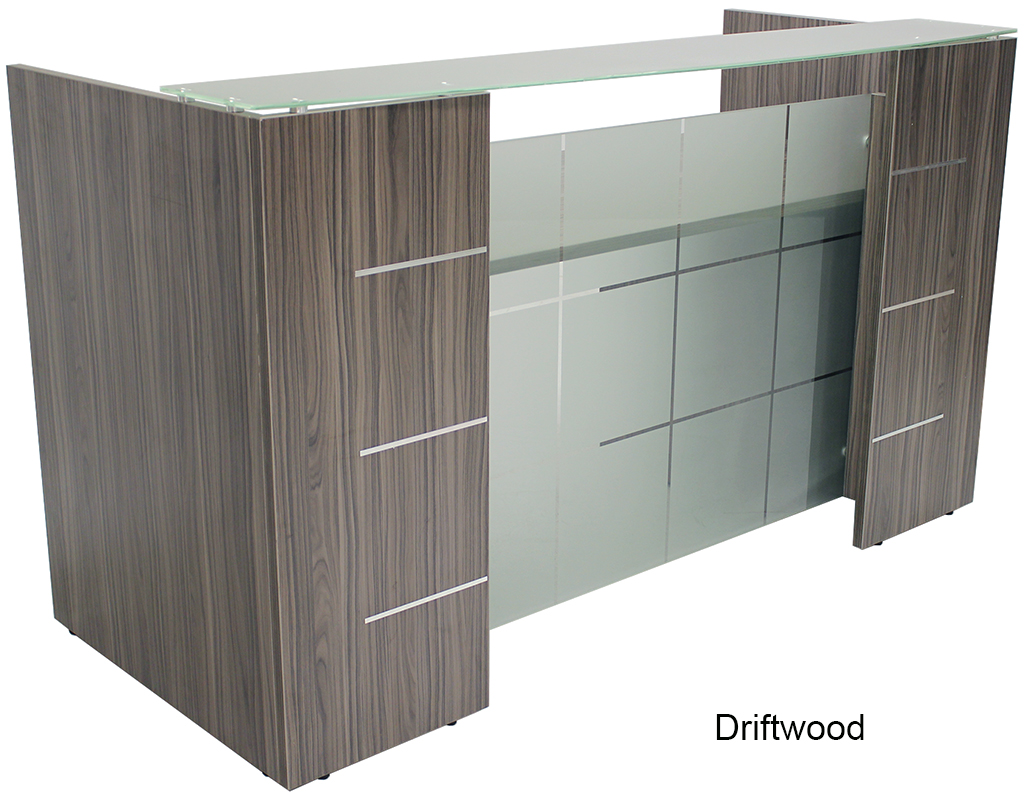 Glass Front Reception Desk In 5 Colors