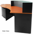 Glass Top Curved Wave ADA Reception Desk