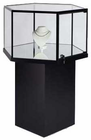 Hexagonal Pedestal Display Case