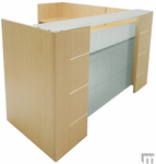 L-Shaped Glass Front Reception Desk