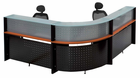 L-Shaped Glass Top Reception Desk