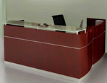 L-Shaped Napoli Reception Desk with Drawers