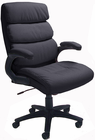 Deep Cushion Black Leather Chair