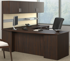 "Methods Custom 84"" Managers L-desk w/ Wall Mounted Hutch, Right Return"