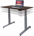 "Mobile Electric Lift Height Adjustable Table Series - 48""W x 28""D"