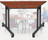 Mobile Trapezoid Training Tables - 48