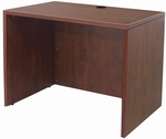 "Modern Office Structures Cherry 36""W Lowered Desk Shell"