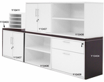 Modern Office Structures Modular Storage Units in Mocha/White
